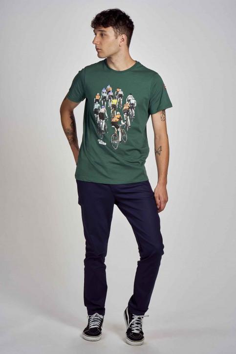 Cyclo Club Marcel T-shirts (korte mouwen) groen CCM202MT 021_POSY GREEN img2