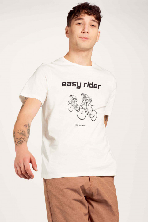 Cyclo Club Marcel T-shirts (korte mouwen) wit CCM211MT 010_VANILLA img2