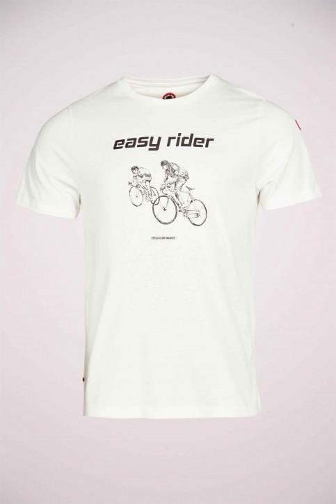 Cyclo Club Marcel T-shirts (korte mouwen) wit CCM211MT 010_VANILLA img4