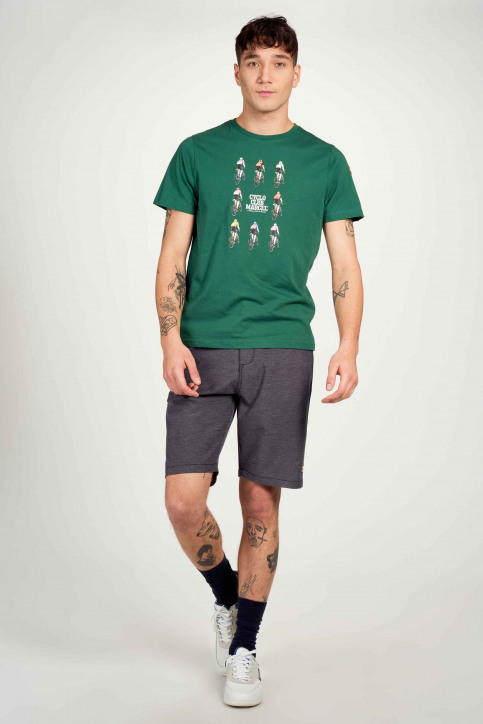 Cyclo Club Marcel T-shirts (korte mouwen) groen CCM211MT 017_POSY GREEN img1