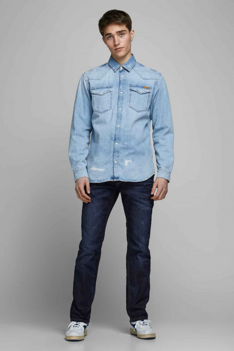 JACK & JONES JEANS INTELLIGENC Jeans straight denim CLARK ORIGINAL VINT_JOS 318 img1