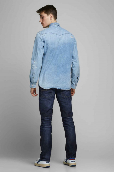 JACK & JONES JEANS INTELLIGENC Jeans straight denim CLARK ORIGINAL VINT_JOS 318 img3