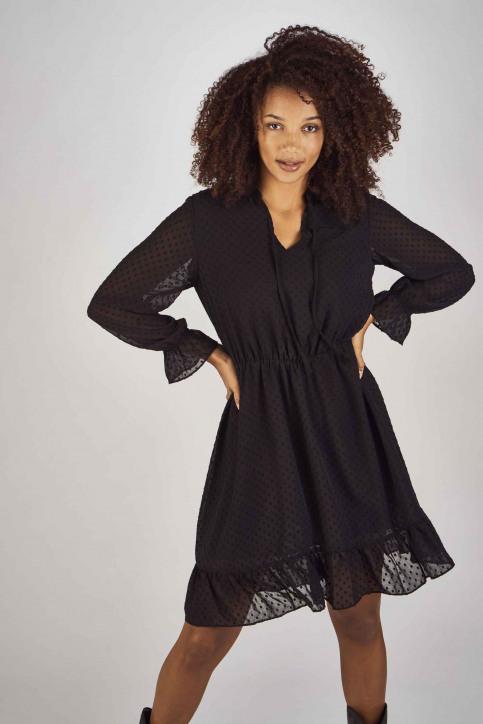 Clouds Of Fashion Robes courtes noir COF192WT 013_JET BLACK img1
