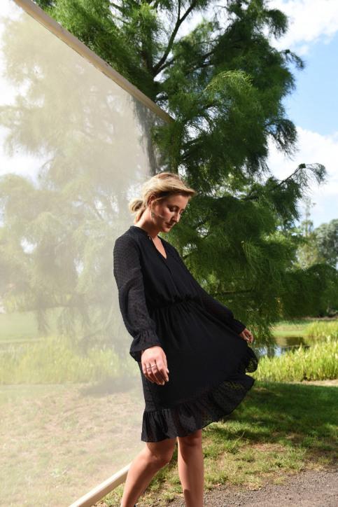Clouds Of Fashion Robes courtes noir COF192WT 013_JET BLACK img7