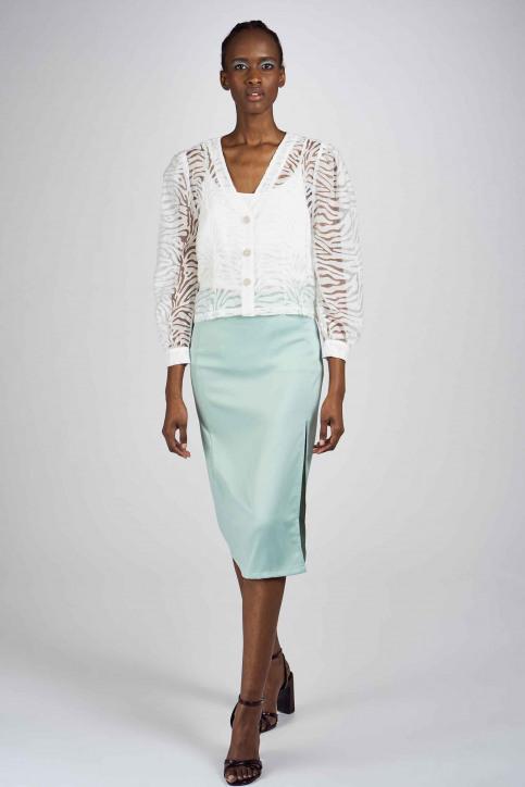 Clouds Of Fashion Jupes 3/4 vert COF201WT 007_AQUA img1