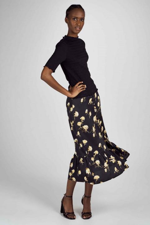 Clouds Of Fashion Tops uni manche courte noir COF201WT 017_BLACK img1