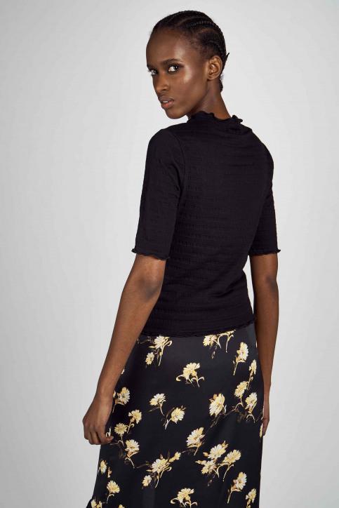 Clouds Of Fashion Tops uni manche courte noir COF201WT 017_BLACK img2