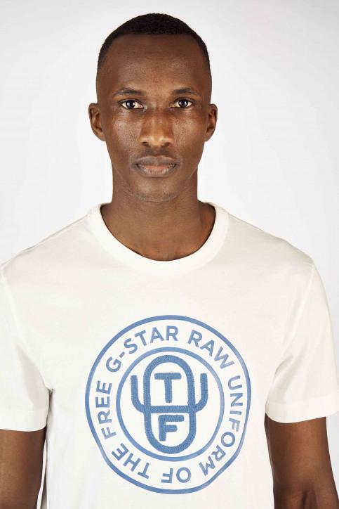G-Star RAW T-shirts (manches courtes) blanc D12895336111_111 MILK img4