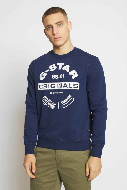 G-Star RAW Sweaters met ronde hals zwart D16466A612_1305 IMPERIAL B img1