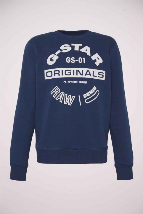G-Star RAW Sweaters met ronde hals zwart D16466A612_1305 IMPERIAL B img4