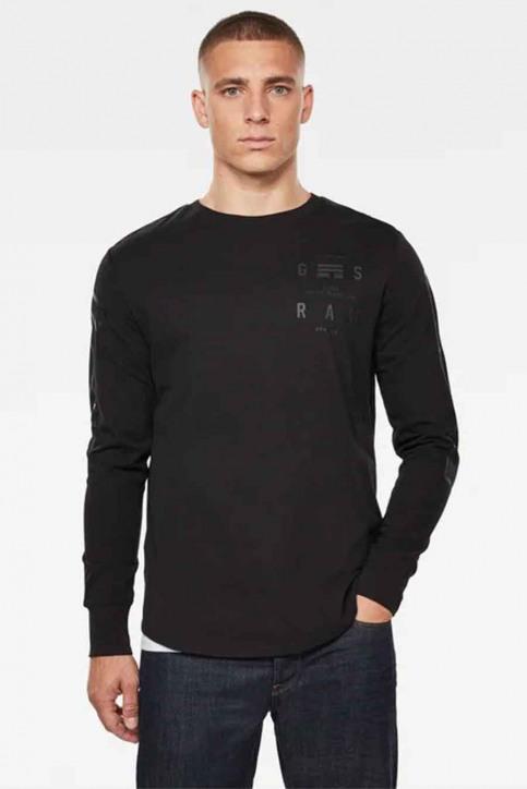 G-Star RAW T-shirts (manches longues)) noir D17740B353_6484 DK BLACK img1