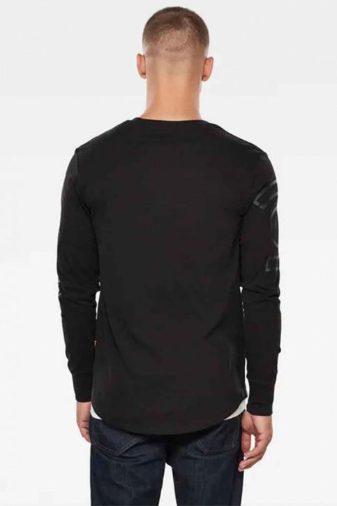 G-Star RAW T-shirts (manches longues)) noir D17740B353_6484 DK BLACK img2