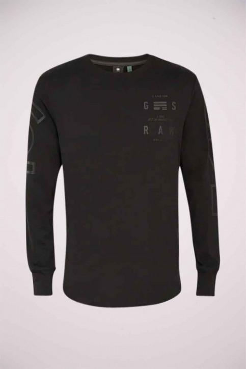 G-Star RAW T-shirts (manches longues)) noir D17740B353_6484 DK BLACK img3