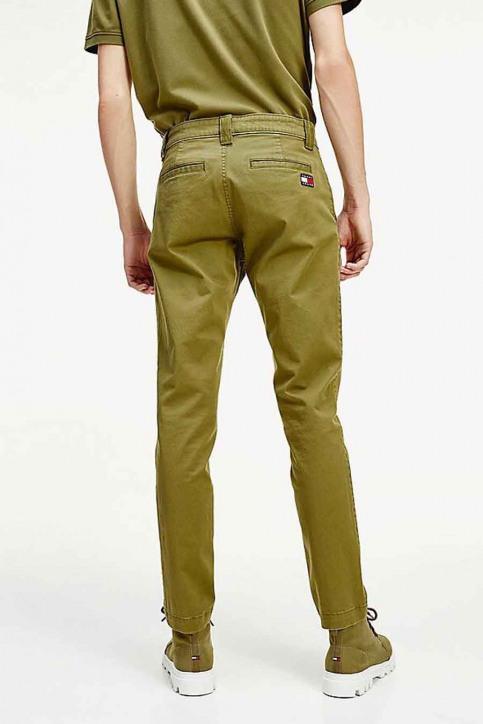 Tommy Jeans Chino's groen DM0DM06518L8Q_L8Q UNIFORM OLI img3