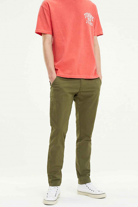 Tommy Jeans Chino's groen DM0DM06518_307 OLIVE NIGHT img1