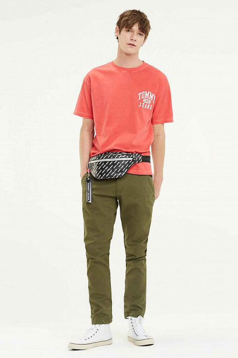 Tommy Jeans Chino's groen DM0DM06518_307 OLIVE NIGHT img2