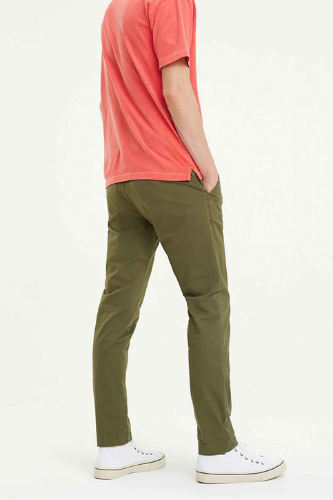 Tommy Jeans Chino's groen DM0DM06518_307 OLIVE NIGHT img3