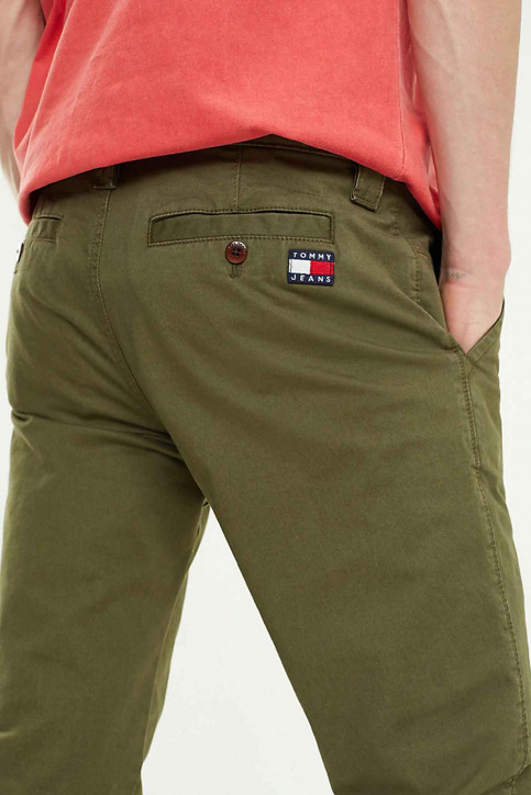 Tommy Jeans Chino's groen DM0DM06518_307 OLIVE NIGHT img4