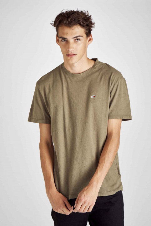 Tommy Jeans T-shirts (korte mouwen) groen DM0DM06540_307 OLIVE NIGHT img1