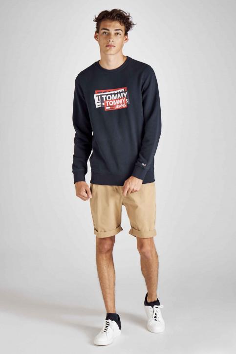 Tommy Jeans Sweaters met ronde hals blauw DM0DM06589_002 BLACK IRIS img2
