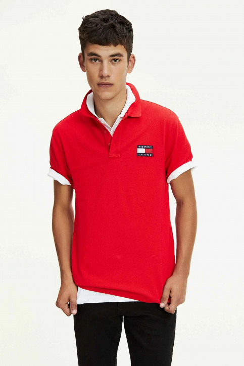Tommy Jeans Polos rouge DM0DM07456_XA9 RACING RED img1