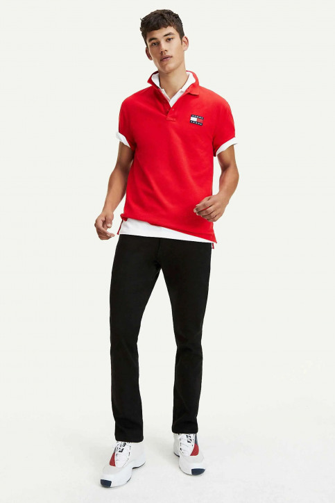Tommy Jeans Polos rouge DM0DM07456_XA9 RACING RED img2
