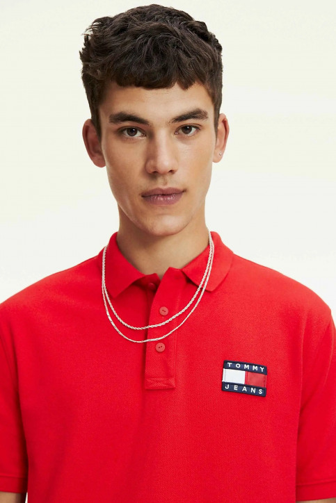 Tommy Jeans Polos rouge DM0DM07456_XA9 RACING RED img4