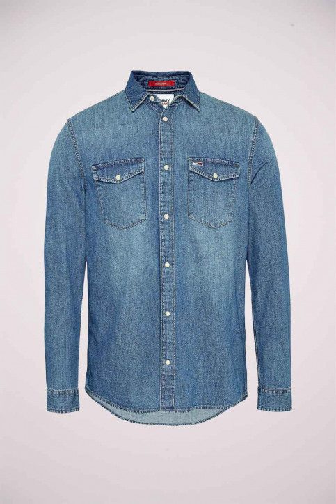 Tommy Hilfiger Hemden (lange mouwen) denim DM0DM084021A5_1A5 MID INDIGO img5