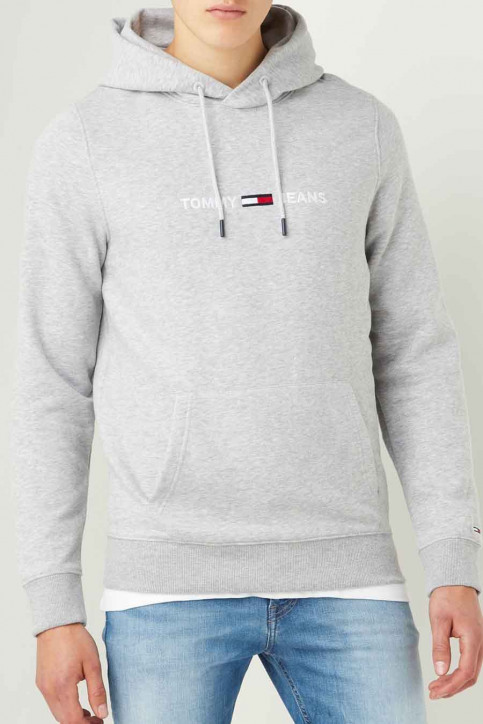 Tommy Jeans Sweats avec capuchon gris DM0DM08474P01_P01 LIGHT GRE H img1