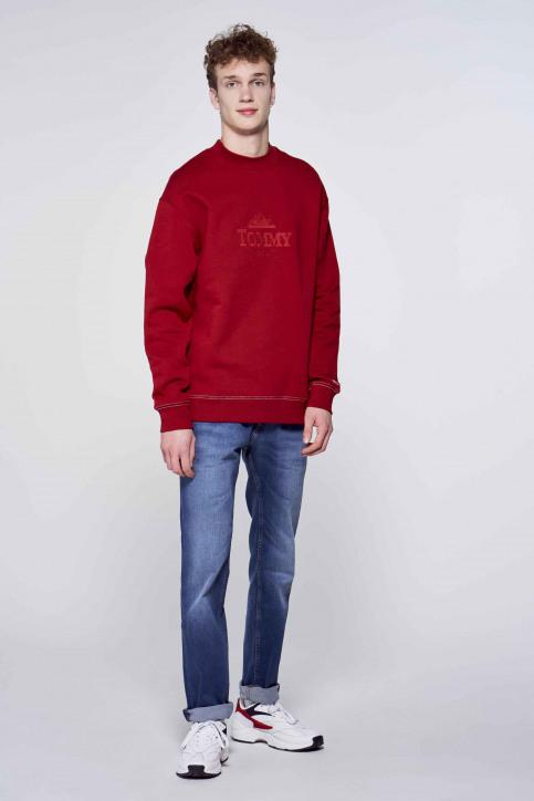 Tommy Hilfiger Sweaters met ronde hals bordeaux DM0DM08722XLK_XLK WINE RED img1
