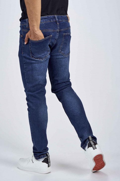 DENIM PROJECT Jeans slim denim DP1000043_043 DARK BLUE img3