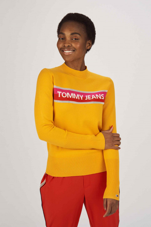 Tommy Jeans Pulls col roulé orange DW0DW06194_704 RADIANT YEL img1