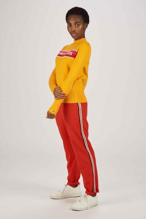 Tommy Jeans Pulls col roulé orange DW0DW06194_704 RADIANT YEL img2