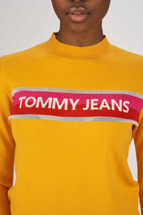 Tommy Jeans Pulls col roulé orange DW0DW06194_704 RADIANT YEL img4