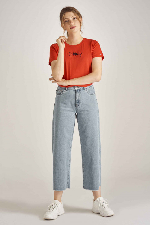 Tommy Jeans T-shirts (korte mouwen) rood DW0DW06710_667 FLAME SCARL img2