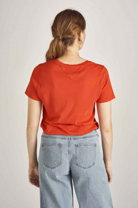 Tommy Jeans T-shirts (korte mouwen) rood DW0DW06710_667 FLAME SCARL img3