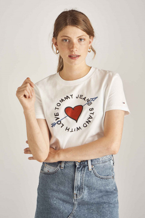 Tommy Jeans T-shirts (korte mouwen) wit DW0DW06927_100 CLASSIC WHI img1