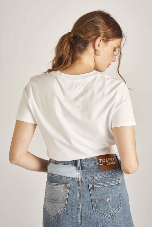 Tommy Jeans T-shirts (korte mouwen) wit DW0DW06927_100 CLASSIC WHI img3