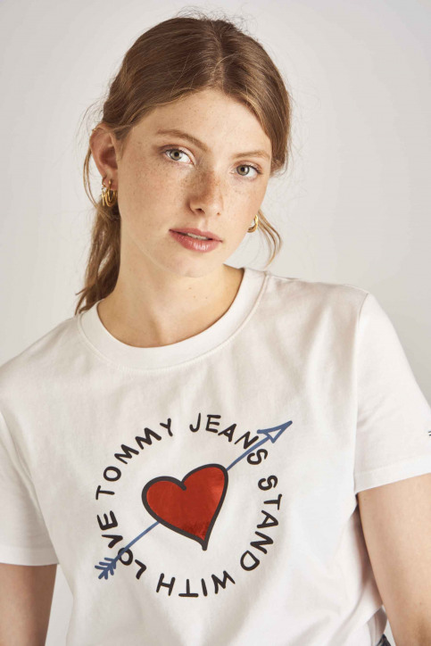 Tommy Jeans T-shirts (korte mouwen) wit DW0DW06927_100 CLASSIC WHI img4