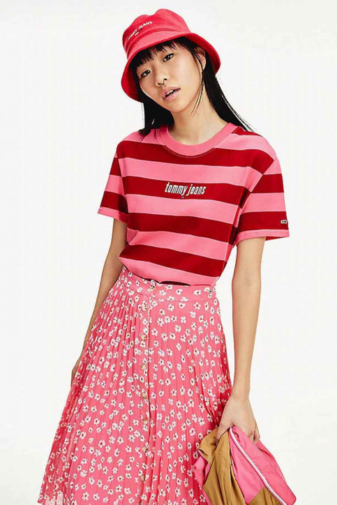 Tommy Jeans T-shirts (korte mouwen) multicolor DW0DW086650D9_0D9 GLAMOUR PIN img1