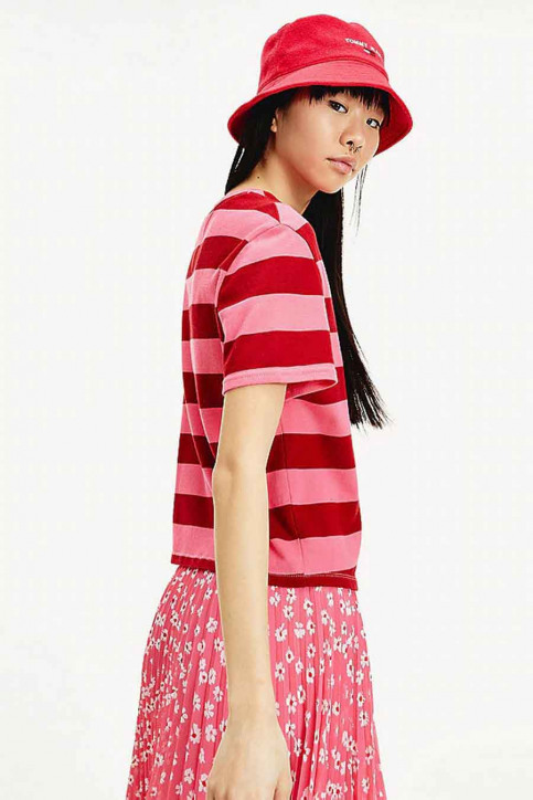 Tommy Jeans T-shirts (korte mouwen) multicolor DW0DW086650D9_0D9 GLAMOUR PIN img3