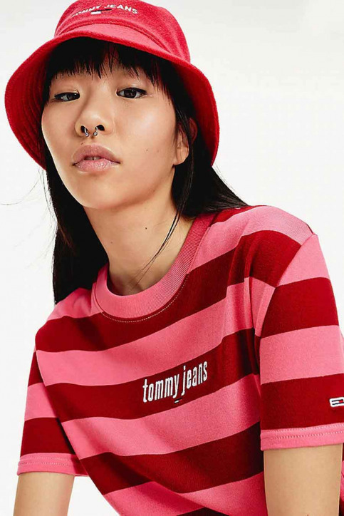 Tommy Jeans T-shirts (korte mouwen) multicolor DW0DW086650D9_0D9 GLAMOUR PIN img4