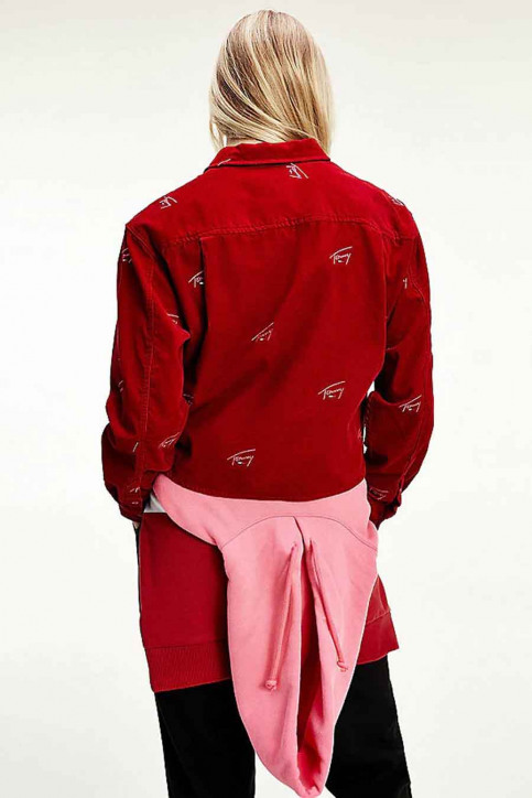 Tommy Jeans Chemisiers (manches longues) bordeaux DW0DW08912XLK_XLK WINE RED img2