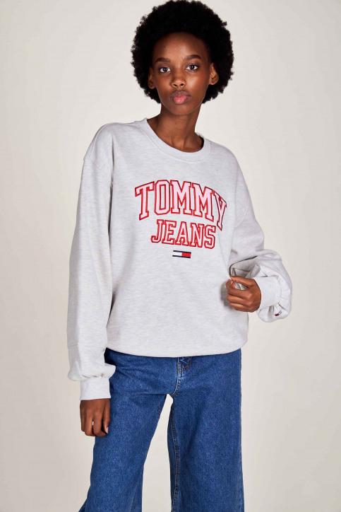 Tommy Jeans Sweats avec capuchon blanc DW0DW08981PJ4_PJ4 SILVER GREY img1