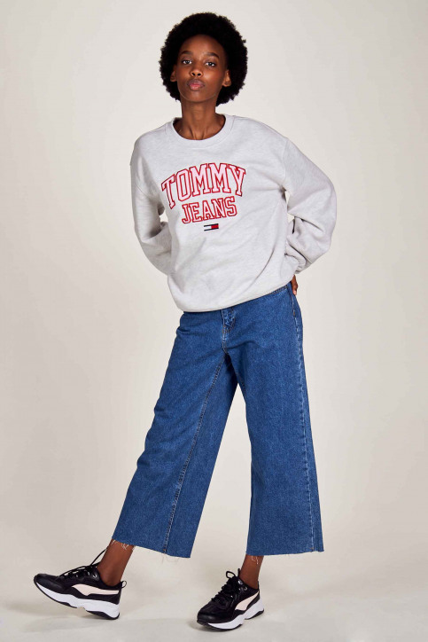 Tommy Jeans Sweats avec capuchon blanc DW0DW08981PJ4_PJ4 SILVER GREY img2