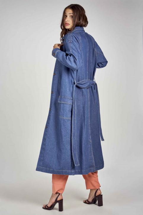 DEUX. by Eline De Munck Lange jassen denim EDM211WT 001_MID BLUE img3