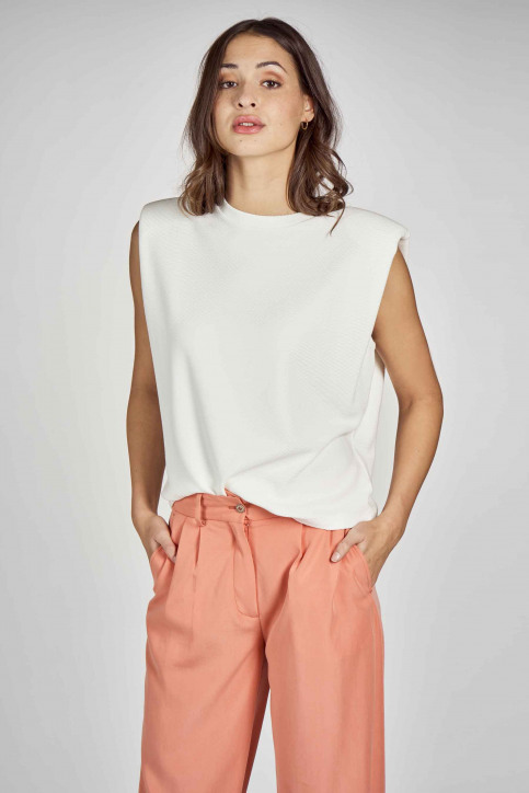 DEUX. by Eline De Munck Tops (divers) wit EDM211WT 024_WHITE img2
