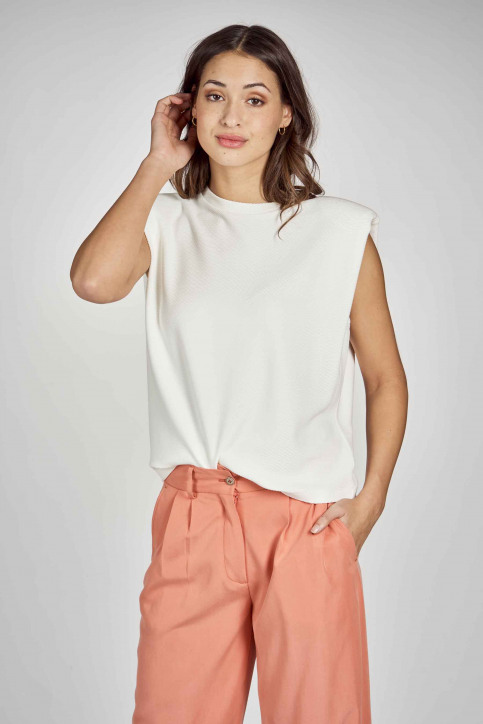 DEUX. by Eline De Munck Tops (divers) wit EDM211WT 024_WHITE img3