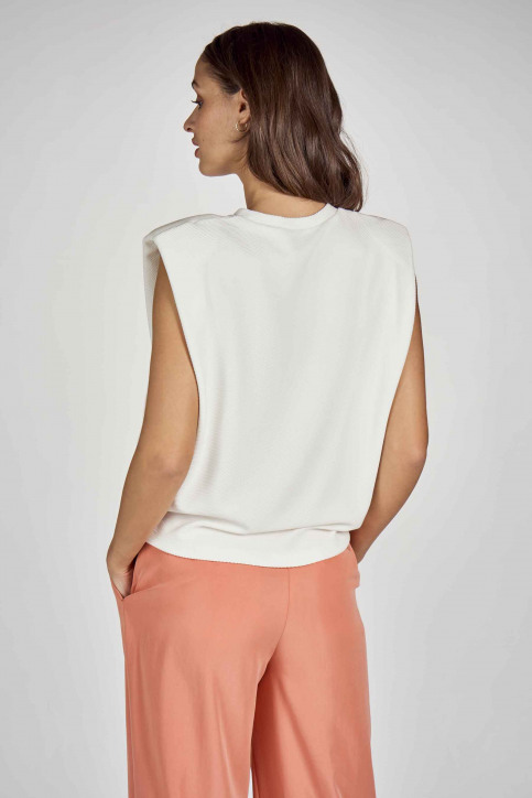 DEUX. by Eline De Munck Tops (divers) wit EDM211WT 024_WHITE img4