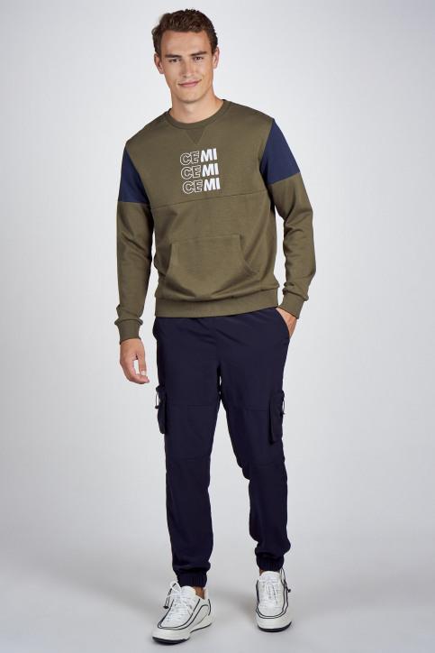 CEMI by Céline Dept & Michiel Callebaut Sweaters met ronde hals groen EMI202MT 006_OLIVE NIGHT img2